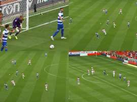 QPR scored a brilliant team goal at Stoke. Collage/QueensParkRangers