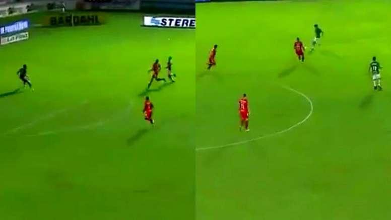 González aprovechó la inocencia de un defensa para marcar. Captura