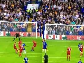 Kantá diminui para o Chelsea contra o Liverpool. Collage/DAZN
