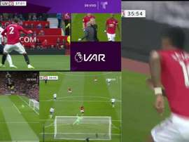 Rashford apre le danze tra le polemiche all'Old Trafford. Collage/DAZN