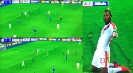Le Belge a marqué son premier but avec Crystal Palace. Collage/NBC