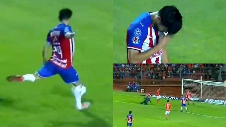 Oribe Peralta marcó su primer gol con Chivas. Captura