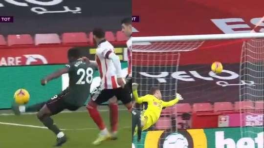 Il gran gol di Ndombele contro lo Sheffield. DAZN