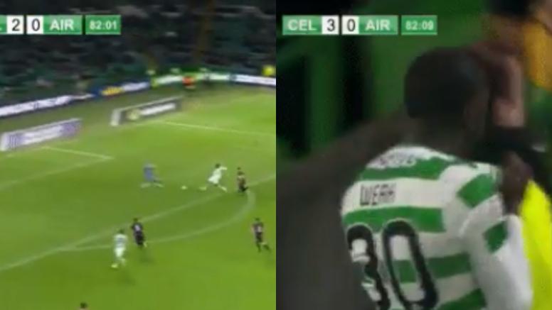 Weah lleva el gol en la sangre. Collage/CelticTV