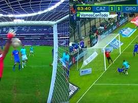 El VAR, protagonista en el gol de Querétaro. Captura