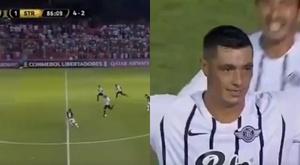 Cardozo y el golazo del año. Captura/CONMEBOL