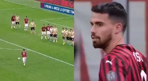 Suso came on and scored a great free-kick to gave Milan the win v SPAL. Capturas/SkySports
