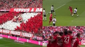 Sentida homenagem e golo aos quatro minutos. FCBayern/Captura - FOX