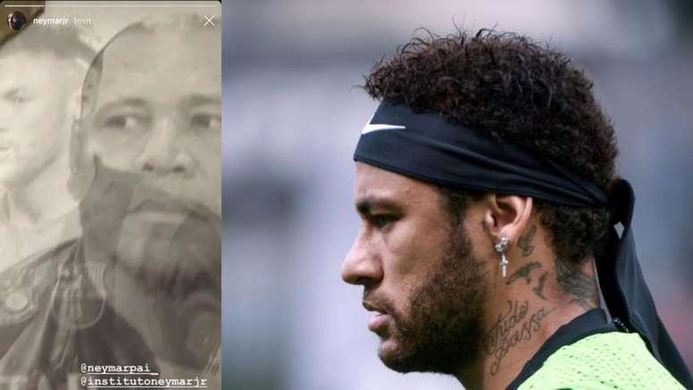 Neymar se montre sur les réseaux sociaux avec... le maillot du Barça. Collage/Naymar