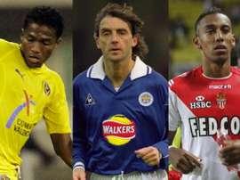Valencia, à Villarreal; Mancini, à Leicester; et Aubameyang, à Mónaco. BeSoccer