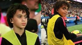 El pequeño Ethan robó protagonismo a su hermano. Instagram/ethaninhombappe