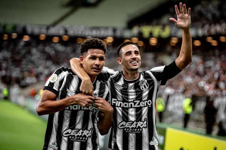 Ceará informó de 17 positivos, nueve de ellos jugadores. Twitter/CearaSC
