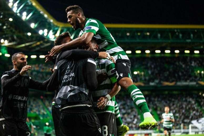 Luiz Phellype é responsável pela virada do Leão sobre o LASK Linz. Twitter/@Sporting_CP