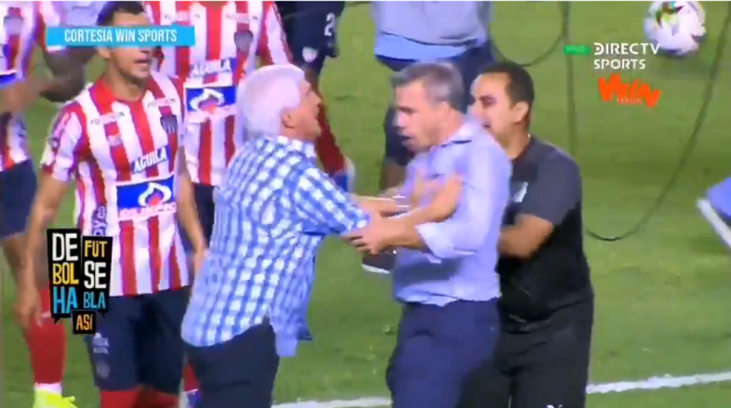 La pelea que protagonizaron Julio Comesaña y Lucas Pusineri — Copa Águila