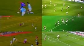 ¡De área a área! Son emuló el golazo de Ronaldo al Compostela. Captura/DAZN
