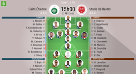 Compos officielles ASSE-Reims. BeSoccer