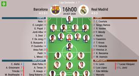 Compos officielles Barça - Real Madrid. BeSoccer