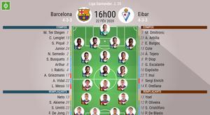 Suivez le direct de Barcelone-Eibar. BeSoccer