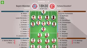 Suivez le direct du match Bayern Munich-Düsseldorf. BeSoccer
