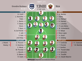 Compos Bordeaux - Nice. BeSoccer