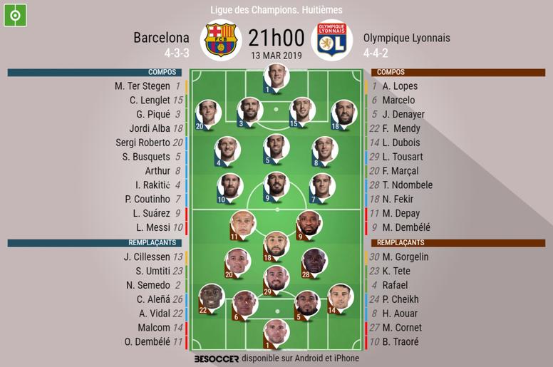 Suivez le direct du match Barcelone-Lyon. EFE