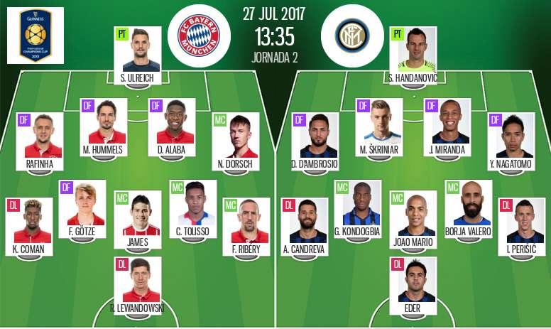 Live Bayern Munich V Inter Milan Besoccer
