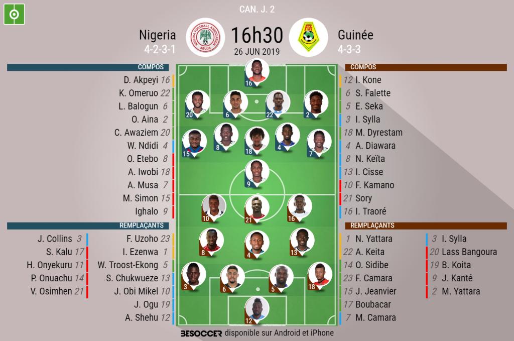 CAN 2019 : Nigeria 1-0 Guinée