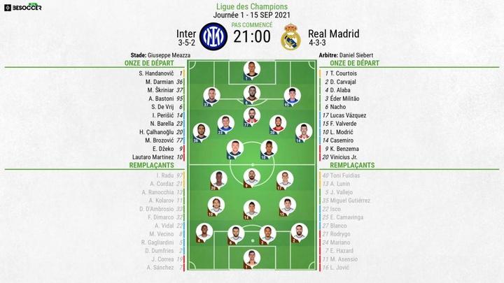 Suivez le direct Inter Milan-Real Madrid. afp