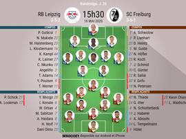 Suivez le direct du match de Bundesliga Leipzig-Fribourg. BeSoccer
