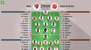 Les compos officielles du match de Ligue 1 entre Metz et Reims. BeSoccer
