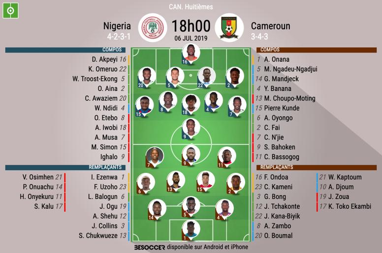 Le Cameroun affronte le Nigéria. AFP