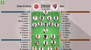 Compos officielles Reims-Metz, Ligue 1, J.21, 25/01/2020, BeSoccer
