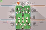 Les compos officielles du match de FA Cup entre United et Liverpool. BeSoccer