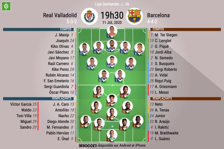 Suivez le direct de Valladolid-Barcelone