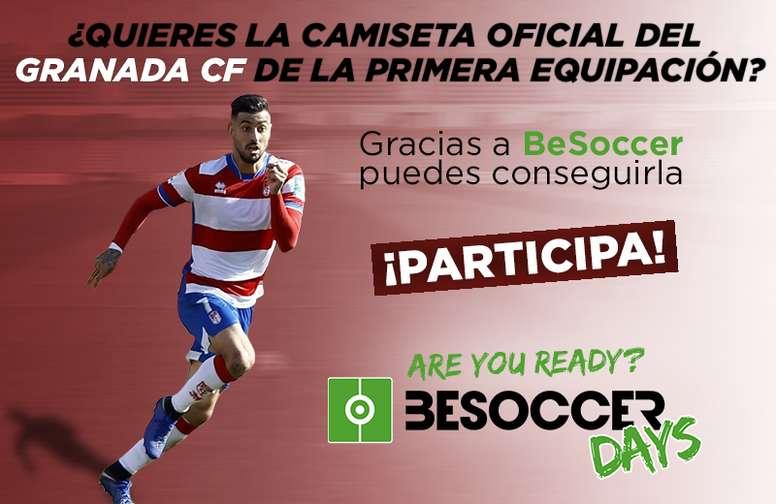 50f6d0a1b1ba5 Pin Consigue con Besoccer la 1ªequipación del Granada CF. BeSoccer