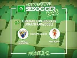 Consigue con BeSoccer una entrada doble para ver al At.Malagueño-Murcia. BeSoccer