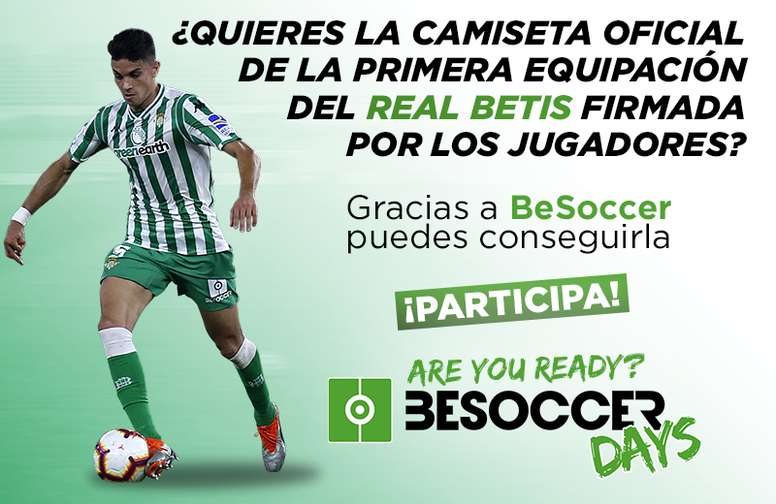 Consigue con BeSoccer una camiseta firmada del Real Betis 18-19. BeSoccer