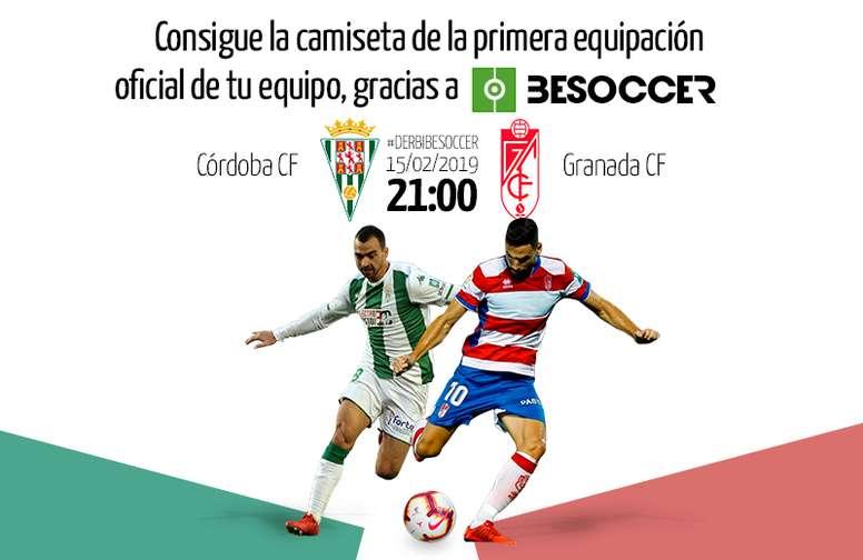 Consigue con BeSoccer una camiseta de tu equipo en el Córdoba ... b684dcd17f68a