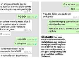 Conversación de Whatsapp entre un ex jugador del Benicàim y el portero. El Mundo