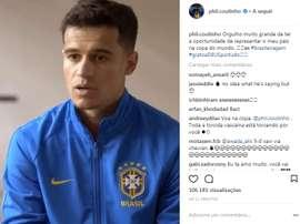 Philippe Coutinho é importante para a Seleção de Tite. Captura de tela Instagram Philippe Coutinho