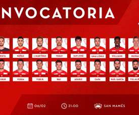 El Athletic ya tiene convocatoria. Twitter/AthleticClub