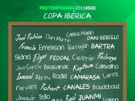 El Betis se enfrentará al Oporto en la Copa Ibérica. Twitter/RealBetisBalompié