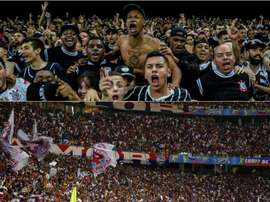 Corinthians e Bahia se enfrentam pela 31ª rodada do Campeonato Brasileiro. Collage/Twitter