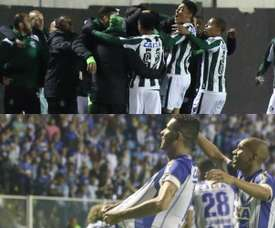 Coritiba e Avaí se enfrentam pela 29ª rodada do Campeonato Brasileiro da Série B. Collage/Twitter