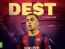 Officiel : Barcelone officialise l'arrivée de Sergiño Dest. BeSoccer