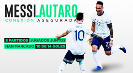Messi y Lautaro, pura dinamita. EFE