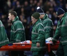Terrible lesión en Inglaterra: fractura del cráneo y cuenca del ojo rota. Twitter/Rovers