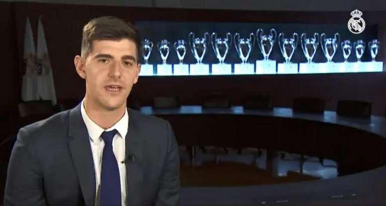 Primera entrevista de Courtois como portero blanco. RealMadridTV
