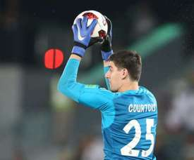 Thibaut Courtois did not train on Saturday. EFE