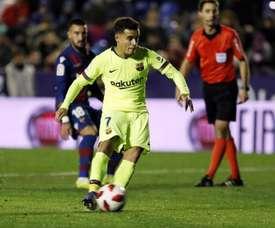 Coutinho titulaire pour prouver. FCBarcelona